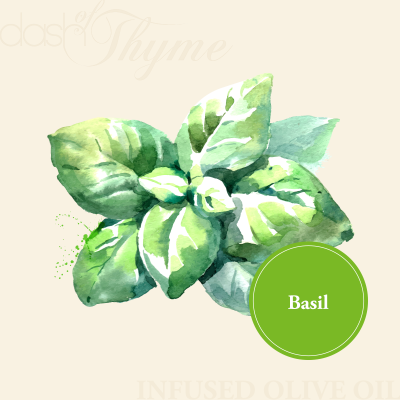 Dash of Thyme—Basil Infused Extra Virgin Olive Oil