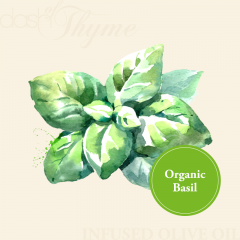 Organic Basil Infused Extra Virgin Olive Oil