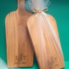 Personalized Wooden Cutting Board for a Wedding Favor