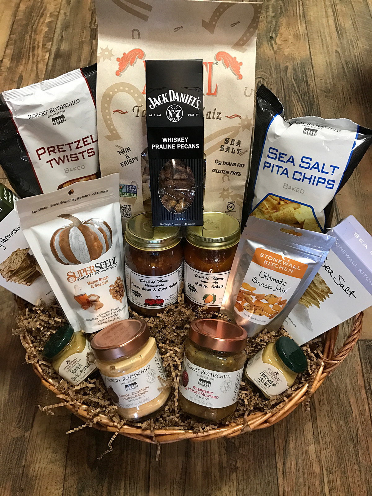 Snack gift basket dash of thyme snack gift basketdash of thyme denville nj negle Image collections
