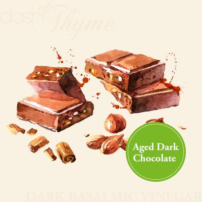 Aged Dark Chocolate Dark Balsamic Vinegar - Dash of Thyme Gourmet Foods and Gifts in Denville, NJ