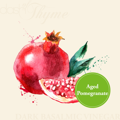 Aged Pomegranate Dark Balsamic Vinegar - Dash of Thyme Gourmet Foods and Gifts in Denville, NJ