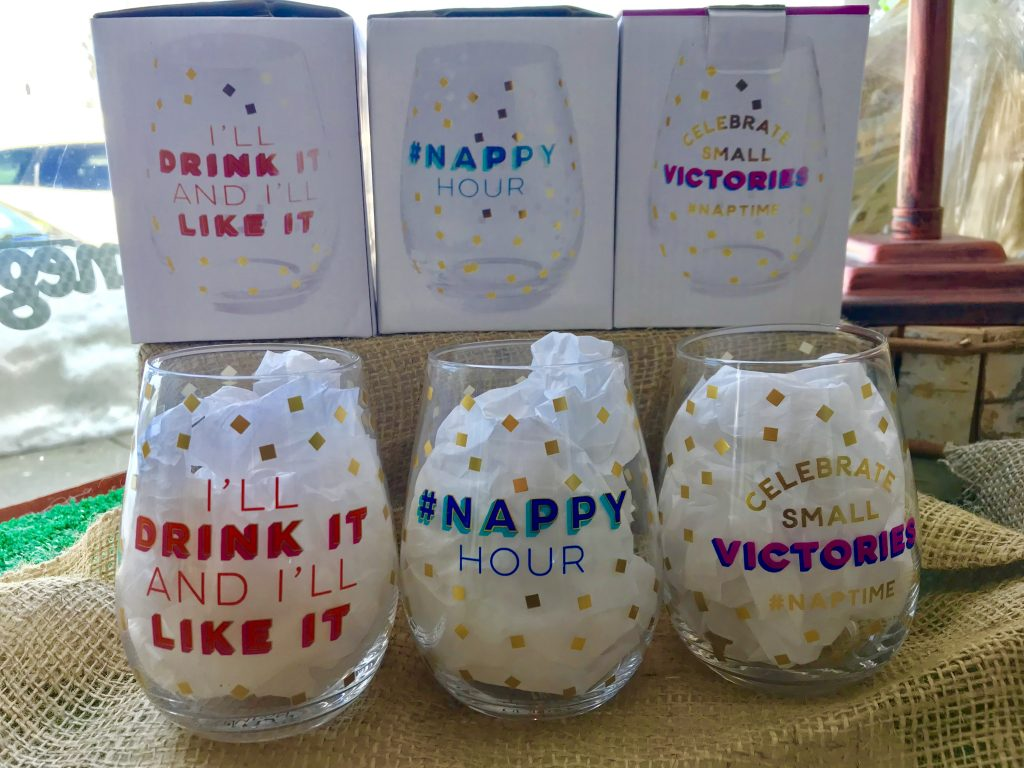 Nappy Hour Wine glasses - dashofthyme.com