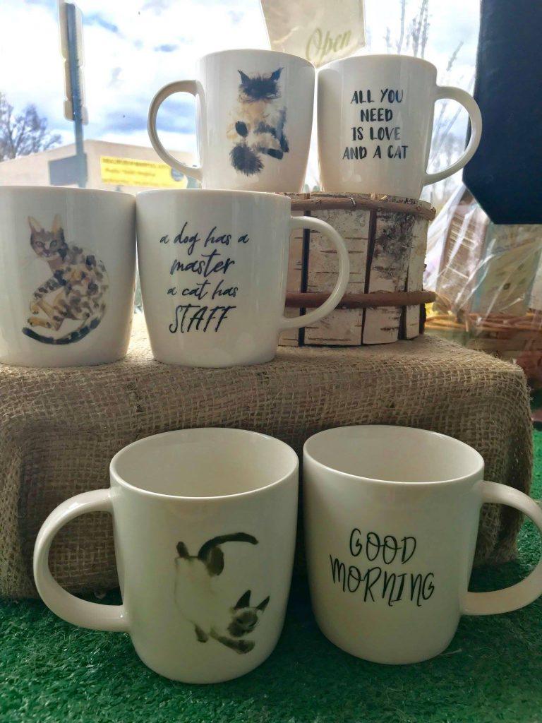 Cat mugs - Dash of Thyme in Denville, NJ