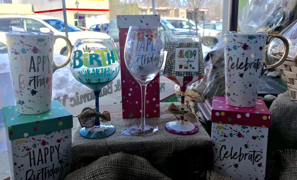 Dash of Thyme in Denville, NJ - Birthday Bunch glasses and mugs