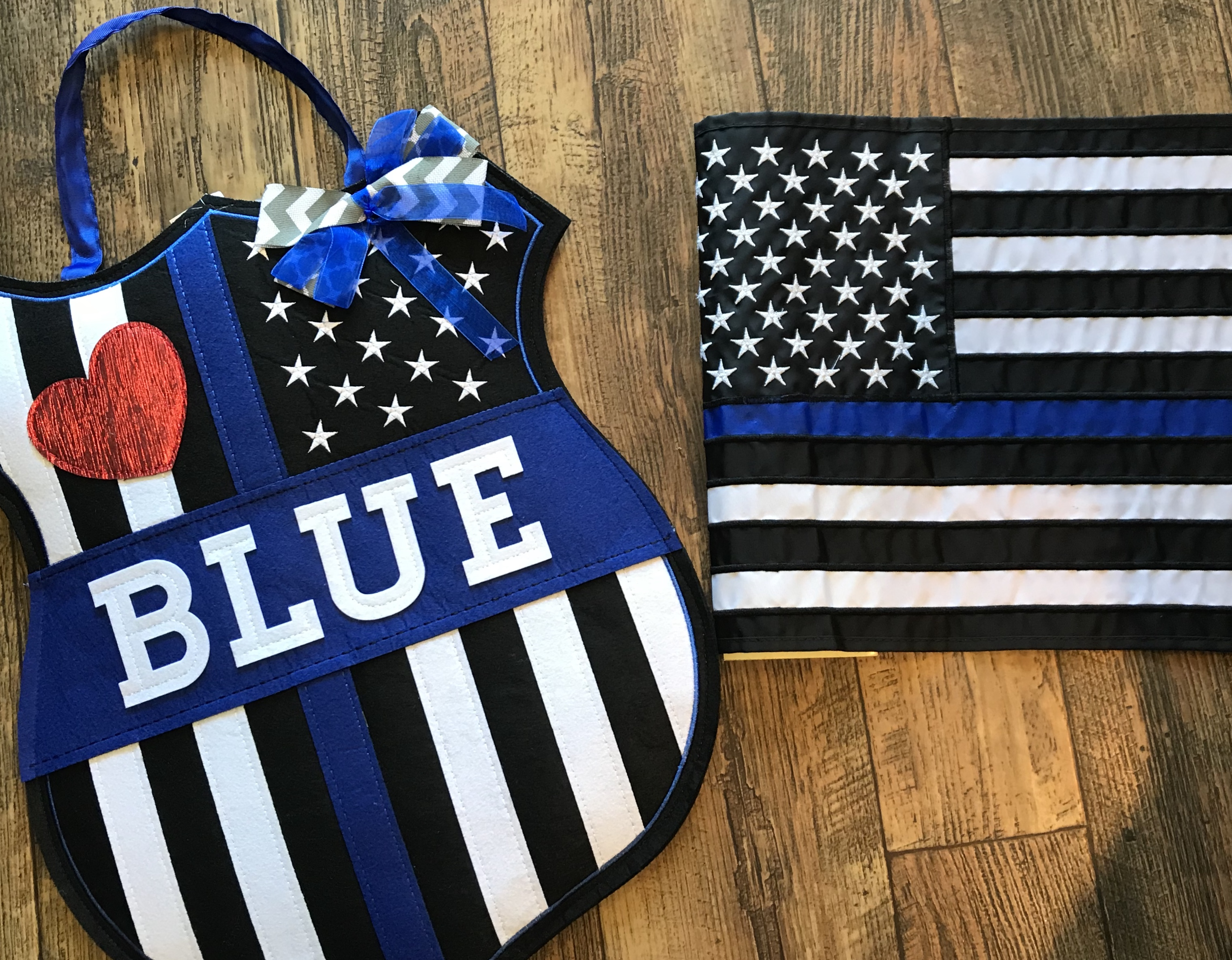 Dash of Thyme in Denville NJ - The Blue door decor and garden flag & Police \u0026 Fire/EMT Pride Flags and Signs - Dash of Thyme