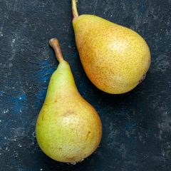 Roasted Pears Glazed in Mulled Cider Balsamic